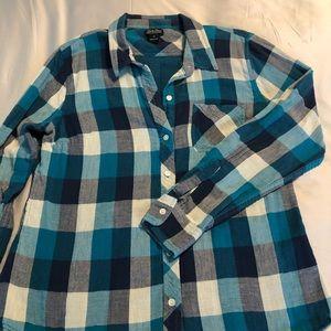 Lucky Brand Teal/Navy Button-Down Shirt